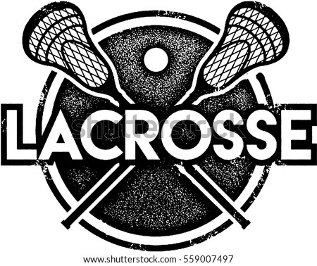 Vintage Lacrosse Sport Crest Stock Vector 107381276