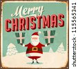 Vintage Metal Sign - Merry Christmas - Vector EPS10. Grunge effects can be easily removed for a brand new, clean design. - stock vector