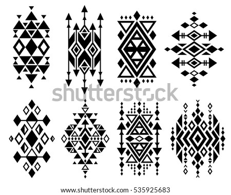 vintage mexican aztec tribal traditional vector stock vector 535925683 shutterstock. Black Bedroom Furniture Sets. Home Design Ideas