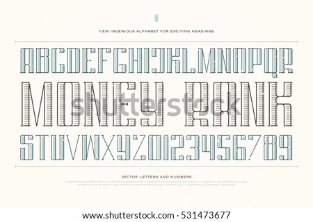 Set Sport Style Alphabet Letters Numbers Stock Vector 428090761 ...