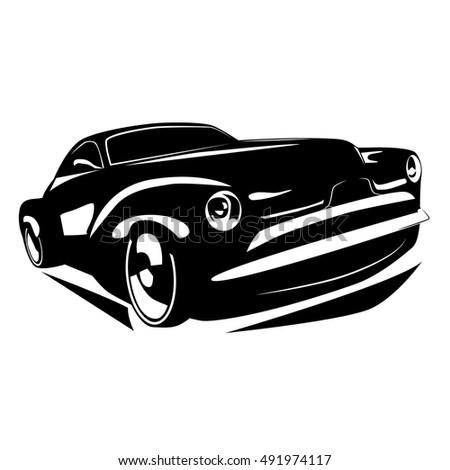 Vector Muscle Car Stock Vector Shutterstock