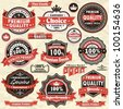 Vintage Premium quality labels (45) - stock vector