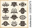 Vintage premium quality labels set. Fully editable EPS10 vector. - stock