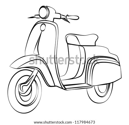 Vector Hand Drawn Retro Scooter Black 287104826 further Motorcycle Batteries together with A 735890 moreover Zaiborcar blogspot in addition 251180635339. on vespa scooter vehicle