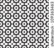 Vintage star shaped tiles seamless pattern, monochrome vector background. - stock photo