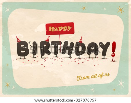 Funny Birthday Card Vector 75047701 Shutterstock – How to Sign a Birthday Card