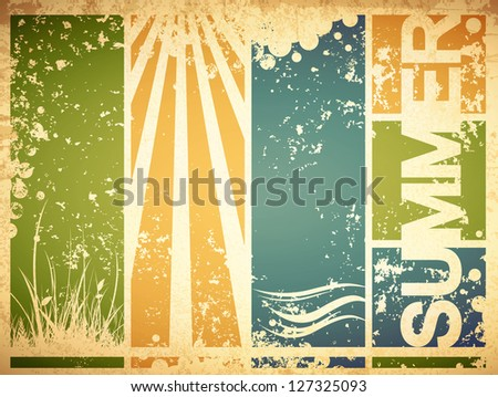 Forest Meadow Outline Hand Draw Stock Vector 373712449