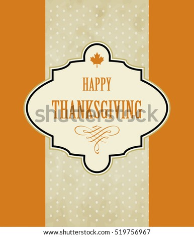 Vintage Thanksgiving day design