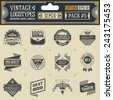 Vintage vector logotypes, insignias, badges and labels. Pack 5. - stock vector
