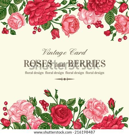 rose wedding invitation background - photo #45