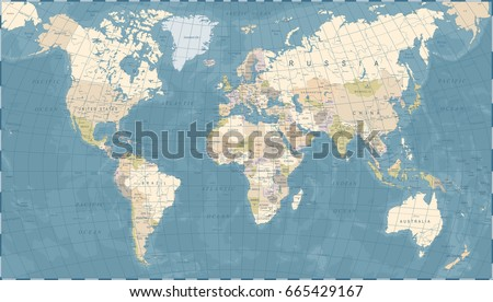 World Map Vector High Detailed Illustration Stock Vector - World world map