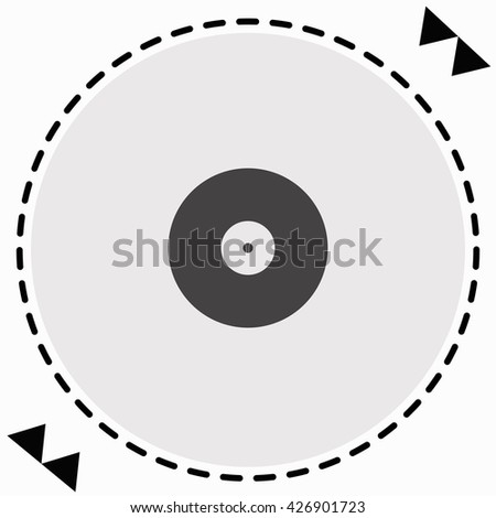 Vinyl icon Flat Design. Isolated Illustration.