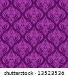 Violet antique seamless wallpaper background design tile - stock vector