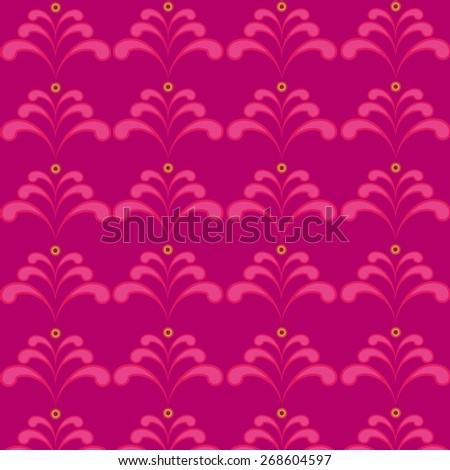 violet pattern with floral