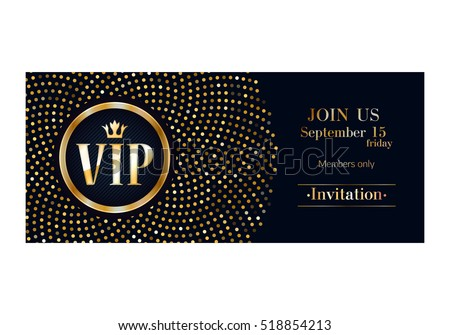 Vip Club Party Premium Invitation Card Vector 442968934 – Club Card Design