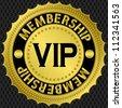 Vip golden label, vector illustration - stock vector