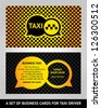 Visiting cards  taxi, vector illustration 10eps - stock vector