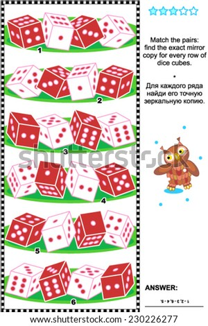 Visual Logic Puzzle Suitable Both For Kids And Adults Match The Pairs