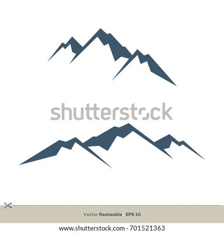 Mountain volcano summit peak icon vector stock vector 764388349 volcano mountain logo template pronofoot35fo Images