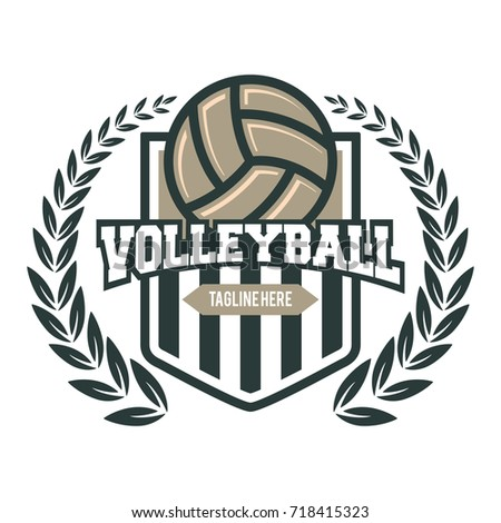 volleyball logo design templates more information