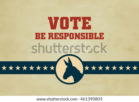 Voting Symbols Vector Design Presidential Election Stock Vector