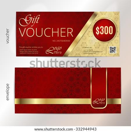 Gift Voucher Template Premium Patterngift Voucher Vector – Money Voucher Template