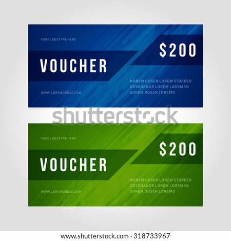 Voucher template abstract gepmetric design vector illustration