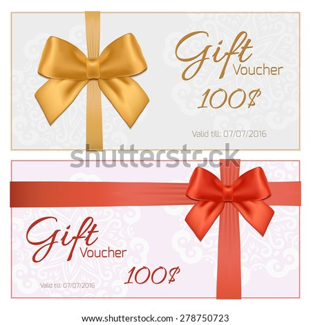Voucher Gift Certificate Coupon Template Gift Vector – Voucher Card Template