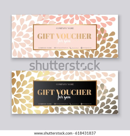 Gift voucher template gold pattern certificate voucher template with gold gift boxcertificate background design coupon invitation currency yelopaper Choice Image
