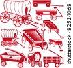 Wagon Collection - stock vector