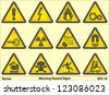 Warning Hazard Signs - stock photo