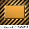 warning sign background - stock vector