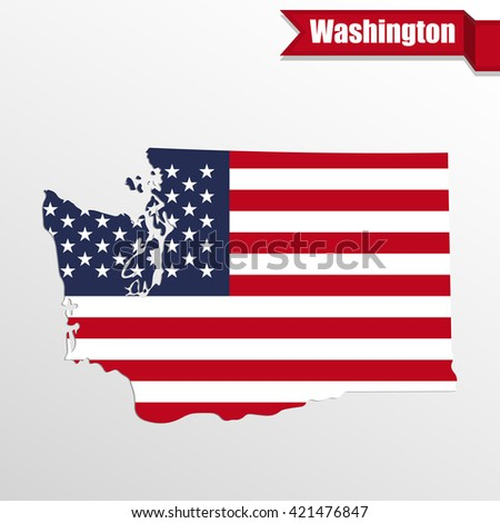 North Carolina State Map Us Flag Stock Vector Shutterstock - Us map with glag