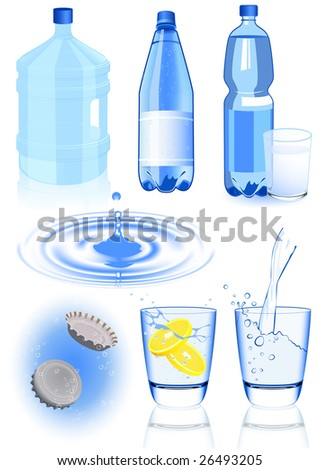 Water elements, vector illustration, EPS file included