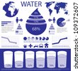 Water info graphic - stock vector