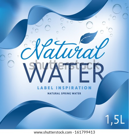 Water Label Bottle Stock Vector 142913833 - Shutterstock