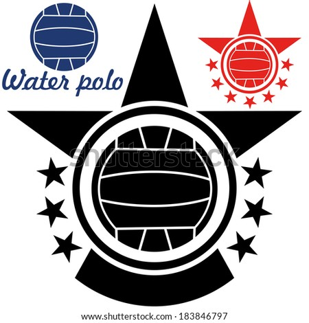 Water polo. Vector Illustration. Silhouette. Sign