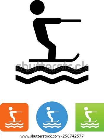 paddle boarding icon stock vector 258279179  shutterstock