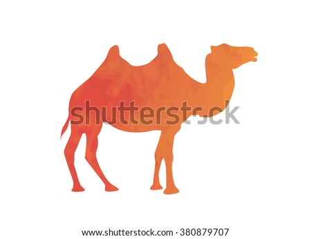 Watercolor camel - vector illustration
