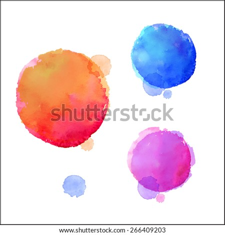 Watercolor design elements. Vector illustration