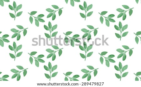 Watercolor floral pattern. Vector illustration. Seamless hand drawn pattern. Can be used for wallpaper, background.