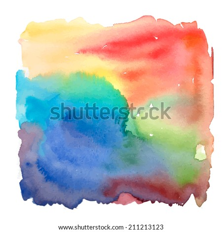Watercolor rainbow colorful background for textures and backgrounds. Vector