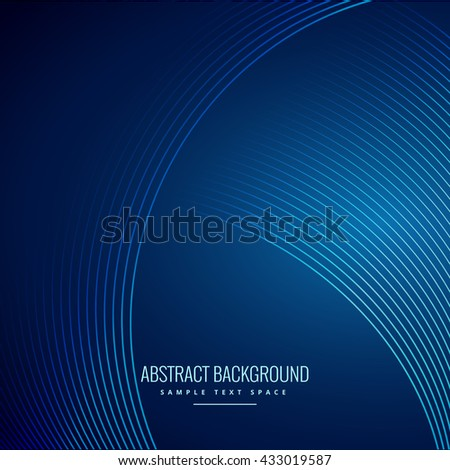 wave lines curve blue background