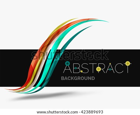 Business card painting business vector stock vector 229207855 wavy glossy futuristic swirl color curve stripes and lines in motion concept and with light reheart Choice Image