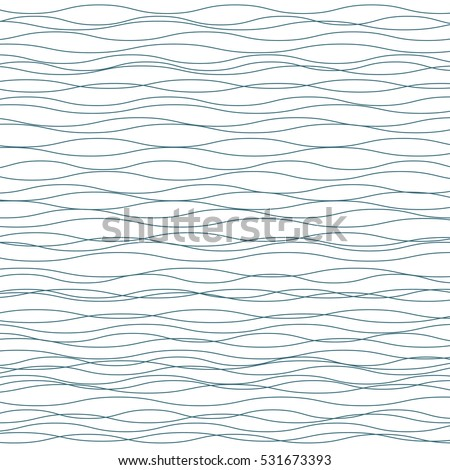 Wavy vector background. Abstract fashion pattern. Grey and white color. Light horizontal wave striped texture