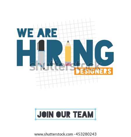 We hiring designers template design recruitment stock for Design recruitment agencies