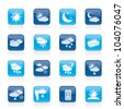 Weather and meteorology icons - vector icon set - stock vector