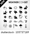 Weather icon set - stock vector
