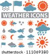 weather icons set, vector - stock vector