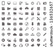 Web and computer basic icons - stock photo